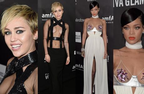 Rihanna ve Miley'nin transparan yarışı