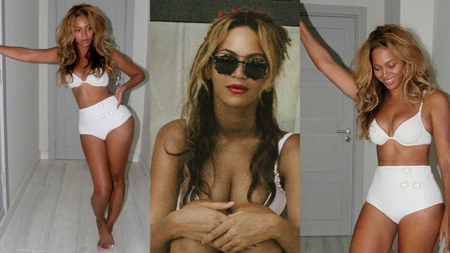 Beyonce'den tatil pozu!