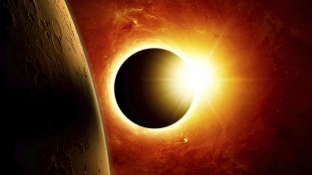 Akrep burcunda parçalı Güneş tutulması