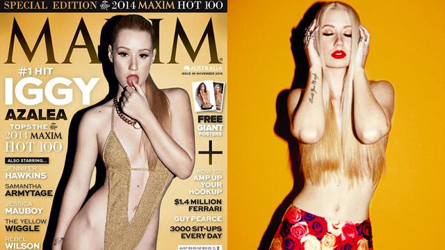Maxim, Iggy Azalea'yı en seksi kadın seçti, kıyamet koptu!