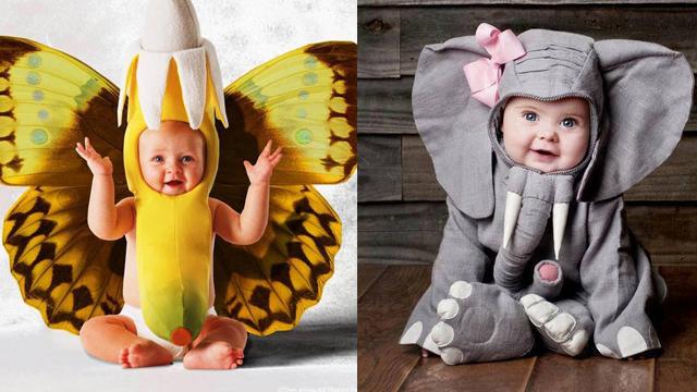 Bebekler hayvan kostümü giyerse...