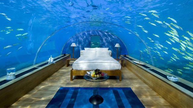 Dünyanın en muhteşem su altı otelleri