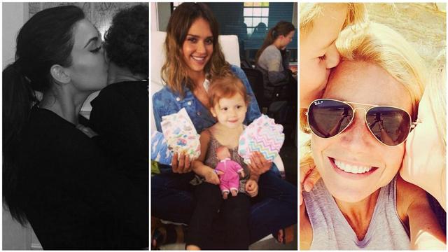 Ünlü yıldızların çocuklarıyla birlikte en şirin Instagram fotoğrafları
