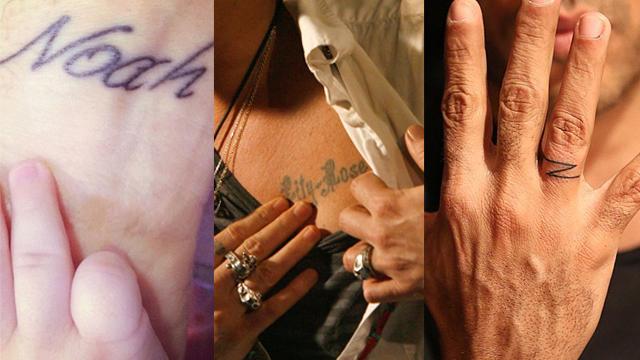 Çocukları için dövme yaptıran ünlü babalar