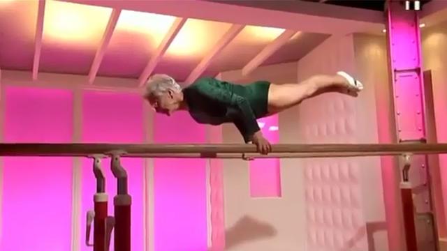 87 yaşındaki jimnastikçi nine şoke ediyor!