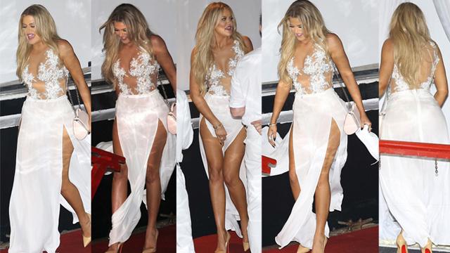 Khloe Kardashian, bu sefer beyazlar içinde partinin gözdesi oldu!
