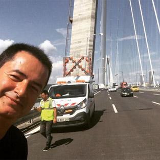 Acun Ilıcalı, Yavuz Sultan Selim Köprüsü'nden paylaştı
