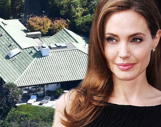 İşte Angelina Jolie'nin bekar evi