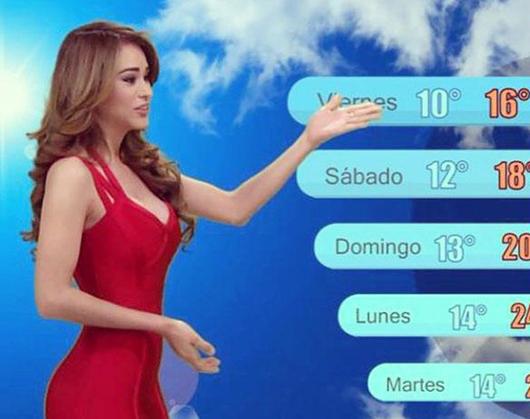Yanet Garcia dünyanın en güzel hava durumu sunucusu