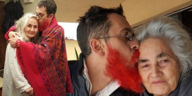 Annesi onu tanısın diye sakallarını boyatmıştı!