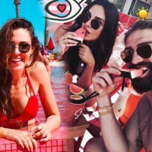 Caner Erkin ve Şükran Ovalı'nın İspanya'da aşk tatili