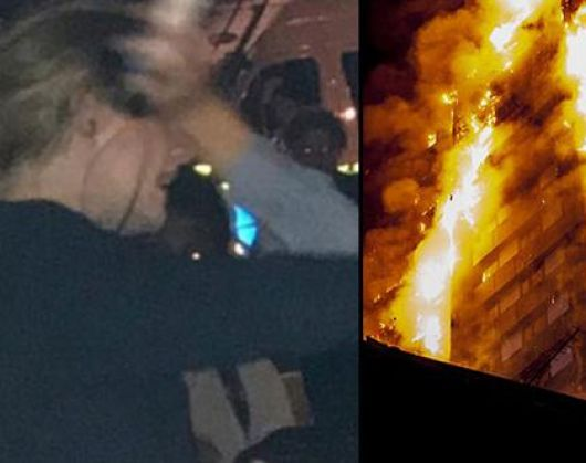 Adele yangının olduğu bölgeye gitti