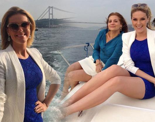 Ana Hickmann'ın İstanbul turu