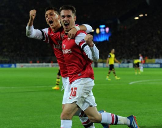 Arsenal Dortmund'a acımadı