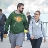 Gülben Ergen ile Erhan Çelik yürüyüşte