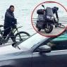 Serdar Ortaç bisikletten düştü