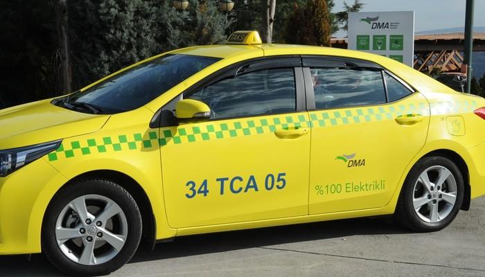 İstanbul'un ilk elektrikli taksisi