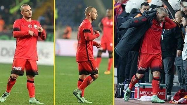 Bir kriz de Sneijder'dan