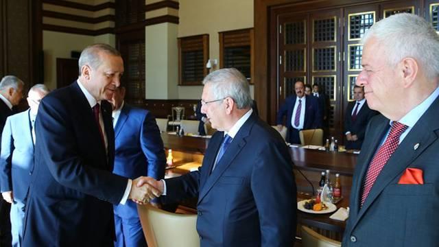 Cumhurbaşkanı Erdoğan Kulüpler Birliği Heyeti'ni kabul etti