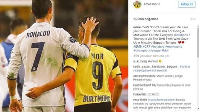 Emre Mor Ronaldo'ya mesaj yolladı