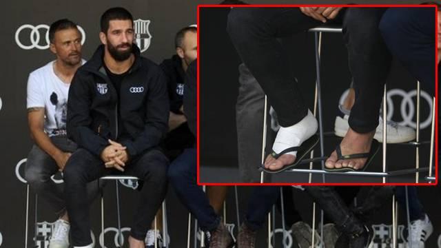 Barcelona'da gündem Arda ve bandajlı ayağı