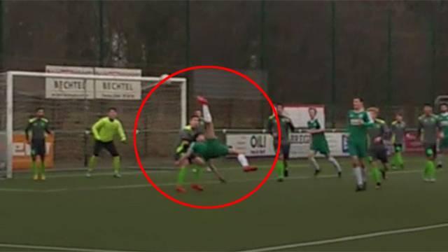 Gurbetçi futbolcu Ömer Akbel'den muhteşem gol