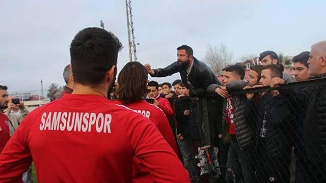Samsunspor'un antremanında gerginlik!