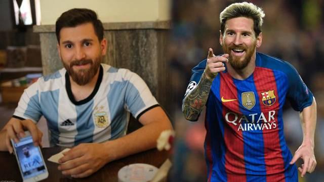 Messi'ye Messi'den daha çok benziyor!