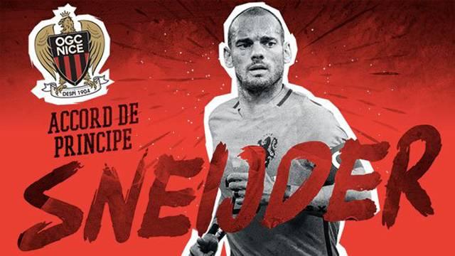 Nice, Wesley Sneijder'i resmen açıkladı