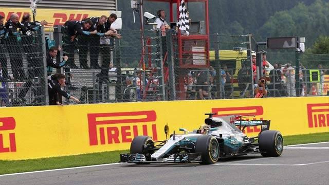 Belçika'da zafer Hamilton'ın