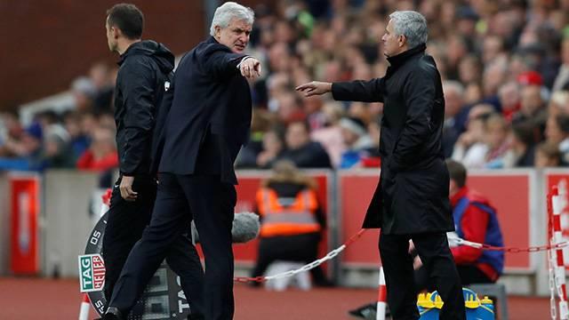 Mark Hughes'un Jose Mourinho'ya küfür ettiği iddia edildi