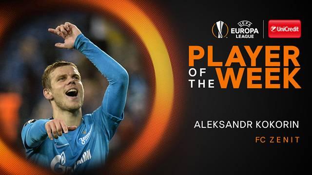 UEFA Avrıupa Ligi'nde haftanın oyuncusu  Aleksandr Kokorin oldu