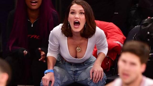 Bella Hadid NBA maçına damga vurdu