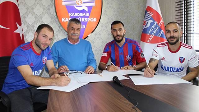 Karabükspor Murat Akın, Yusuf Akbulut, Aican Karadağ ve Leandrinho ile sözleşme imzaladı