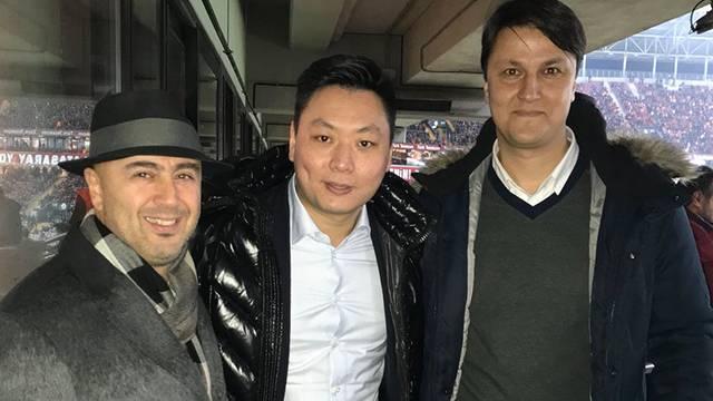 Galatasaray-Antalyaspor maçını Milan Başkanı David Han Li de izledi