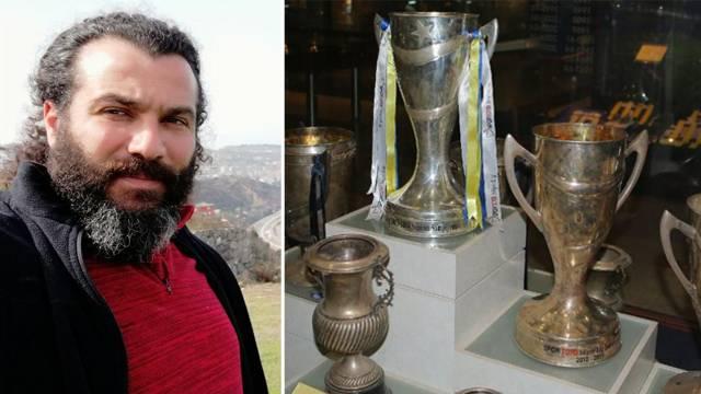 Fenerbahçe'nin kupasını çalmaya çalışan Trabzonsporlu Halit Şahin'e büyük şok