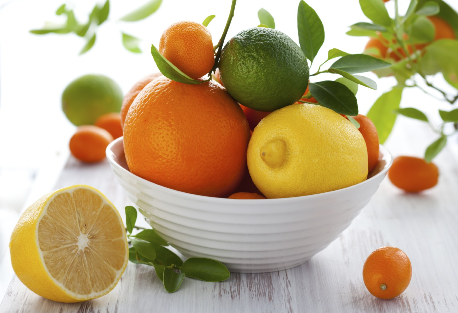 The Freshness of Citrus-bowl of citrus fruit